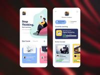 Online Course App Concept