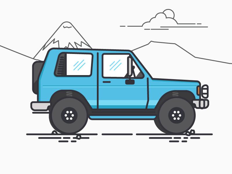 Buggy buggy car illustration