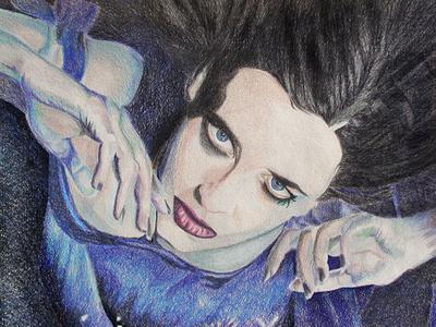 Eva Green By K. Fairbanks color pencil drawing eva green drawing art