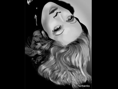 Dietrich By K. Fairbanks digital art marlene dietrich illustrator art drawing vector