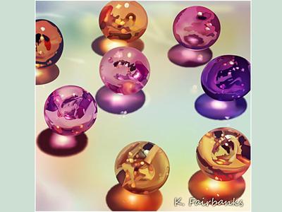 Glass Beads By K. Fairbanks digital drawing digital illustration digital art still life glass drawing art vector stilllife