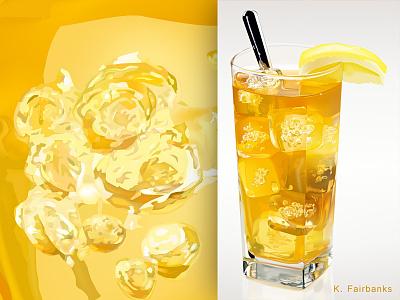 Tea By K. Fairbanks still life digital illustration digital art stilllife ice food tea illustrator drawing art vector