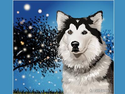Dog By K. Fairbanks digital drawing digital art illustrator canine animal drawing art vector dog