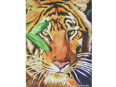 Tiger Watercolor Painting By K. Fairbanks traditional media watercolor painting painting watercolors wildlife nature animals animal tigers cats cat tiger