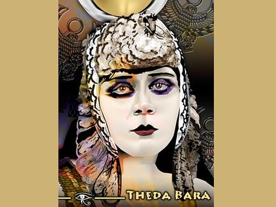 Theda Bara by K. Fairbanks digital art digital drawing movie star theda bara illustrator art vector