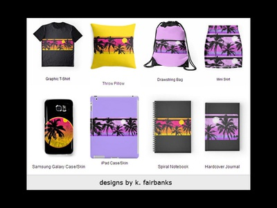 Palm Motif Applied by K. Fairbanks home decor clothing shirts shirt textiles stationery packaging fashion trees tropical palm trees palm
