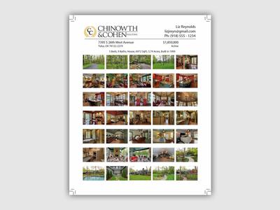 C+C Realtors Flier 1 print design flyer flier graphic design page layout print indesign
