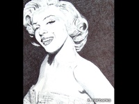 Marilyn Millionaire by K. Fairbanks drawing ball point pen drawing marilyn monroe