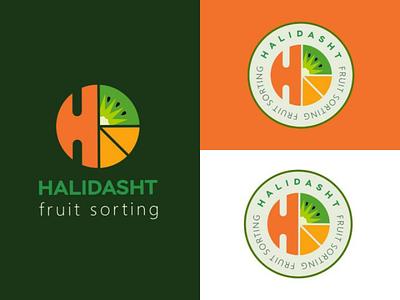 Halidasht fruit sorting logo design design designtips fruitlogo