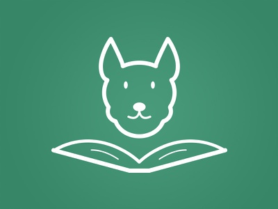 Education + Doggie can book education dog logotype logo