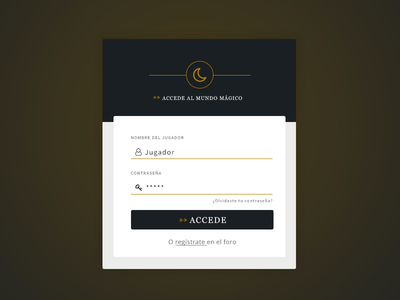 Login form web login ui ui design log in