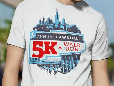 Lawndale 5K Tshirt Design