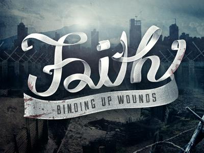 Faith Gauze Final illustration typography