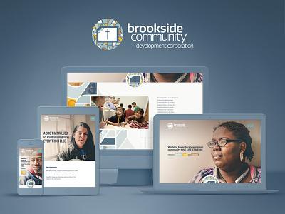 Brookside CDC Website brand mosaic portraiture church urban outreach web responsive non-profit nonprofit community