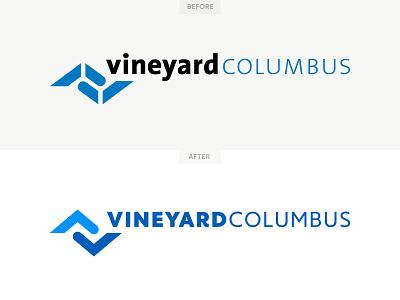 Vineyard Columbus Brandmark Refresh redesign megachurch branding identity icon church logo brand