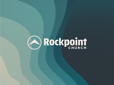 Rockpoint Church Brand Refresh circle arrow modern church waves brand identity logo branding