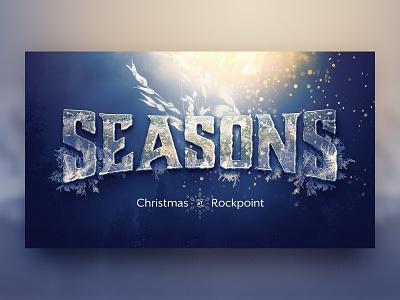 Seasons Christmas Series typography church frost melt ice sermon graphic sermon series holiday season christmas