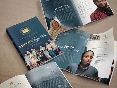 2019 RECAP // 2 // Brookside Annual Gala Program & Branding fundraiser booklet design community church design layout print design event branding