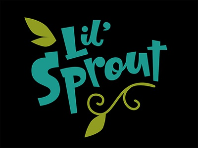 Lil' Sprout  kids t-shirt design hand-drawn type lettering vector