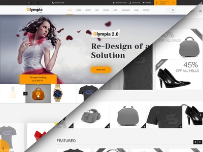 Olympia 2.0 Redesign template design ecommerce