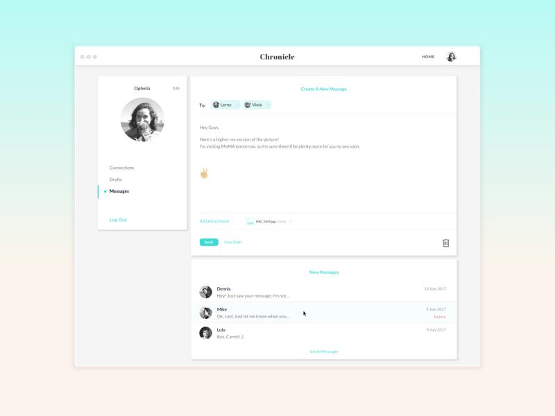 Chronicle - User Profile profile ux ui