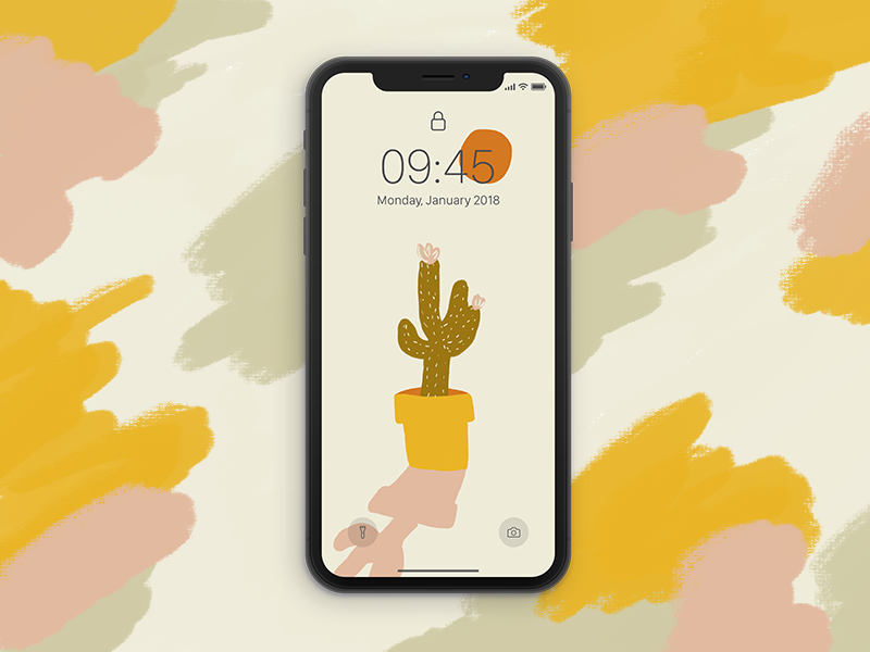 Cactus Wallpaper By Claudia Bertilsson Dribbble Dribbble