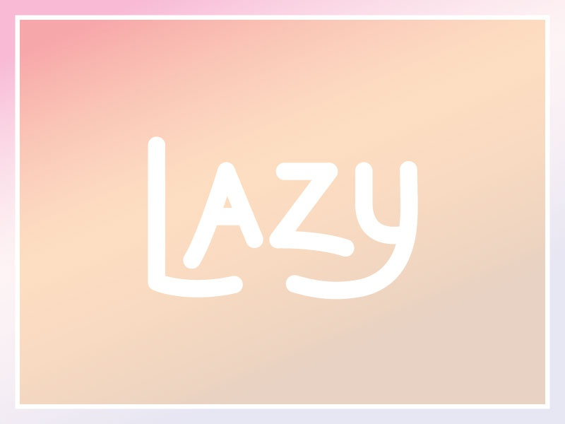 Lazy type letters