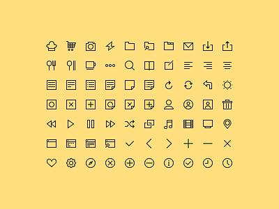 [PSD Freebie] 70 Simple Icons psd icons simple free freebie line icons free icons free psd