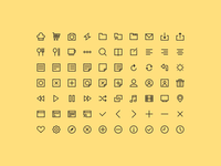 [PSD Freebie] 70 Simple Icons