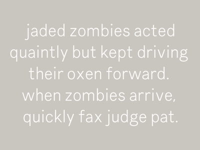 Two Pangrams About Zombies