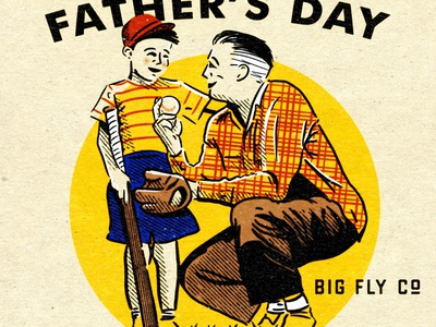 BF FathersDay 2020 son dad fatherson fathersday retrosupplyco type baseball texture retro vintage illustration