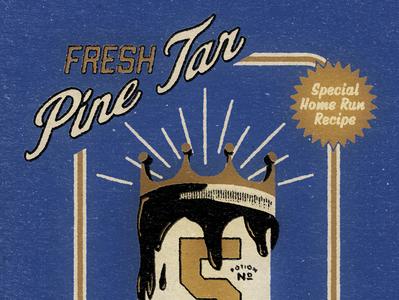 Big Fly George Brett mlb satire textures pine tar home run kansascity royals vector baseball texture typography vintage retro illustration