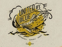 United By Blue Mens Spring 2020 catfish fish fishing texture typography vintage retro illustration