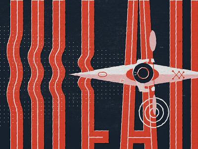 Type Hike Poster Sneak Peak lakemead texture ripple kayak typography illustration poster typehike