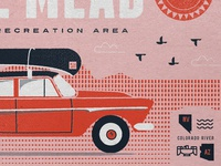 Type Hike Lake Mead Poster Rejected Concept 1