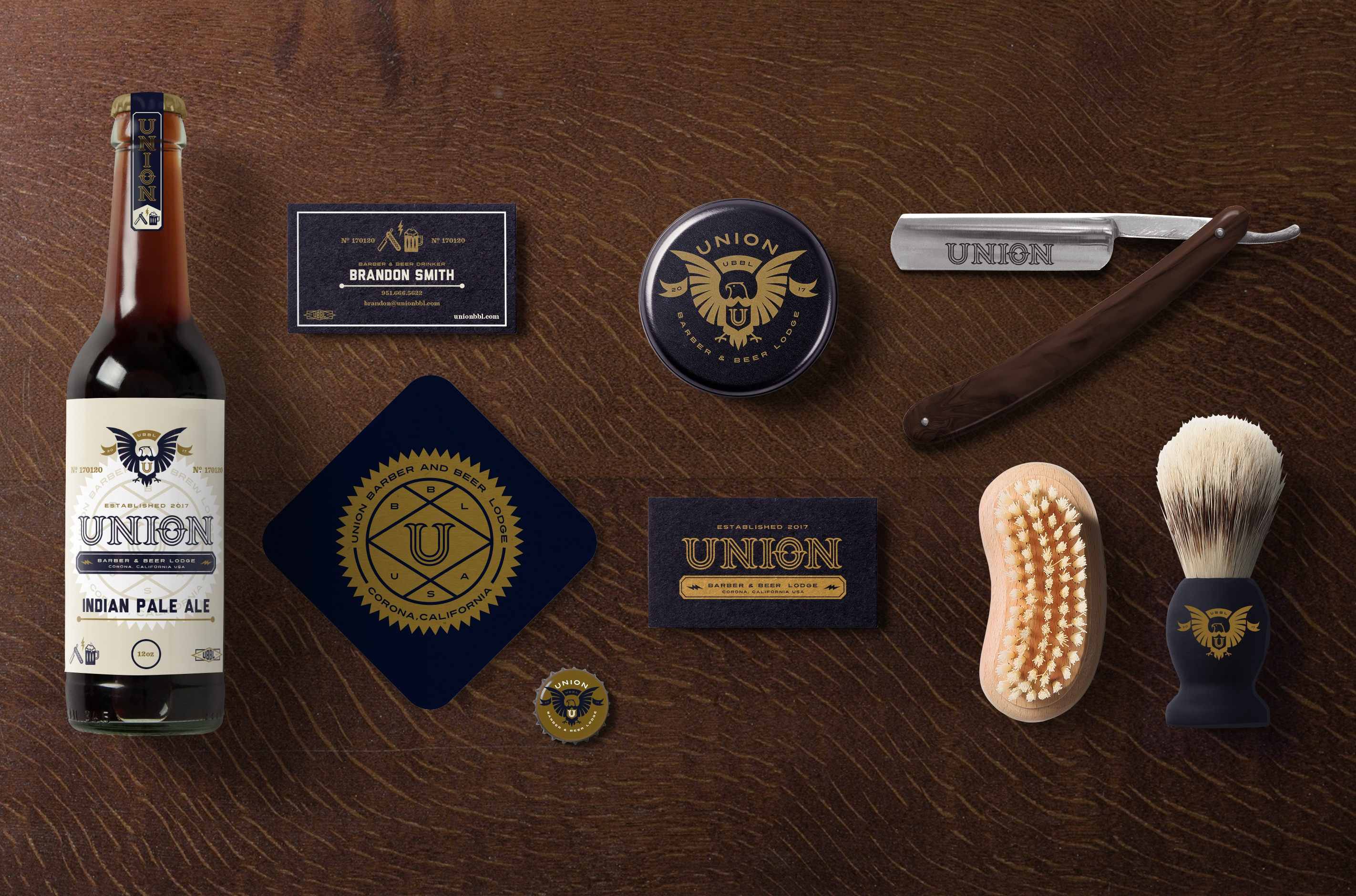 Bryce Reyes / Projects / Union Barber and Beer Lodge | Dribbble