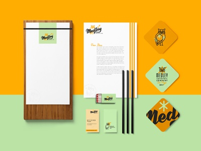 Medley Cocktail Co. Identity