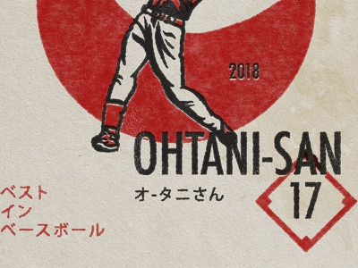 Ohtani Shirt Concept vintage retro japan red shirtdesign japanese angelsbaseball baseball ohtani
