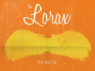 Studio Trip to the Movies lorax poster movie orange mustache