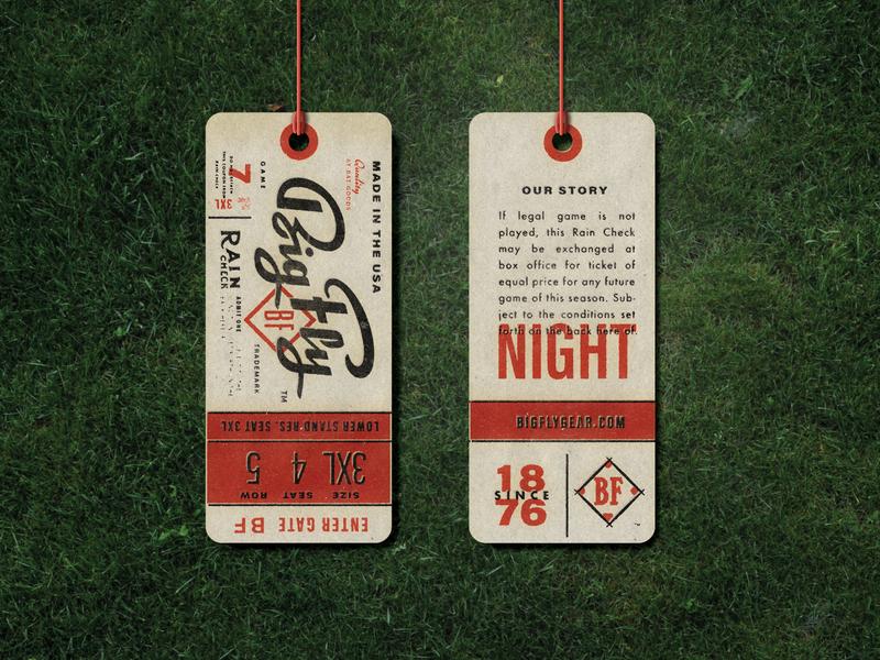BF Hangtags apparel hang tag branding print classic baseball retro vintage concept to reality mockup print apparel printdesign