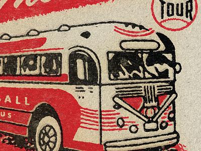 Big Fly Sneak Peek 2 sneekpeak wip baseball bat typography texture gibson history baseball matchbook retro negro leauges vintage bus illustration