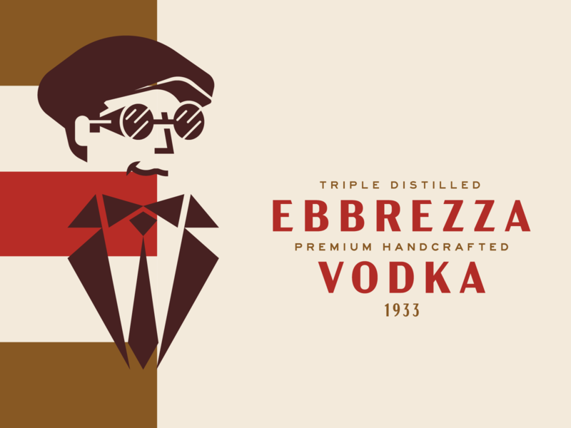 Ebbrezza Vodka Reject goggles race car driver vintage racer thrill swag italiian deco 1920s vintage icondesign character design branding alcohol branding alcohol vodka