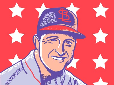 Stan Musial Illustration