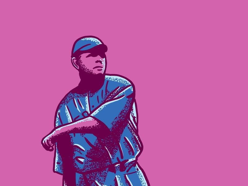 Babe Ruth Illustration portrait procreate texture retrosupplyco retro vintage illustration babe ruth baseball card the great bambino baseball
