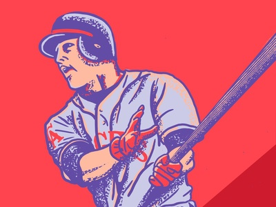 Mike Trout Illustration