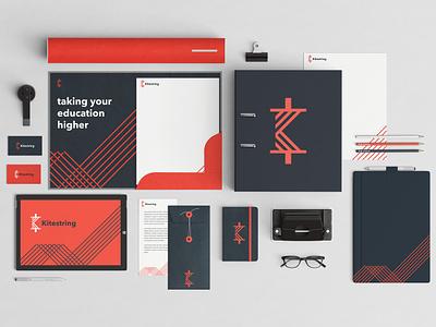 Kitestring Identity Exploration mockup brand design brand branding identity branding icon k logo kitestring logodesign logo identitydesign identity typography