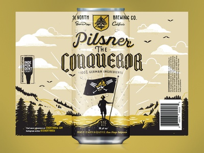 Pilsner The Conqueror Can Design