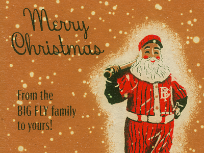 Big Fly Christmas 2019 socialmedia classic hoodfonts baseball santa vintage retro procreate illustraion christmas bigfly