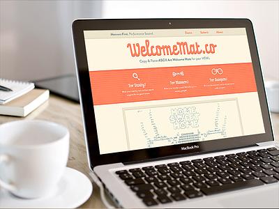 Welcome Mat ascii responsive salmon html