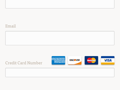 Flat Credit Card Icons credit card icons css
